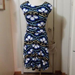 EN FOCUS STUDIO black blue stretch dress